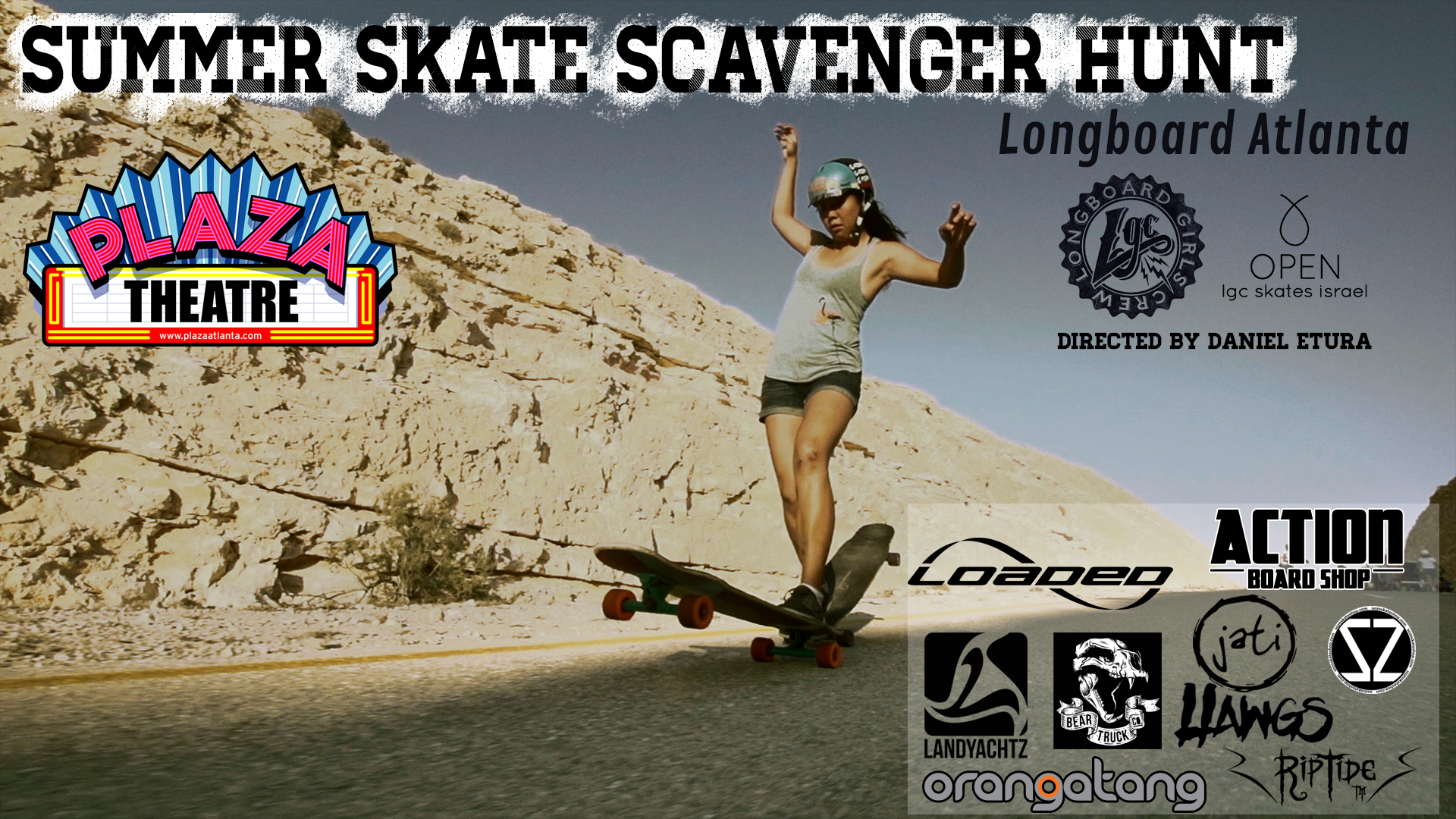longboard girls crew, usa, georgia, atlanta, open, movie, lgc, israel, skate, longboarding, skateboarding, strong women, cool, rad women, movie premiere