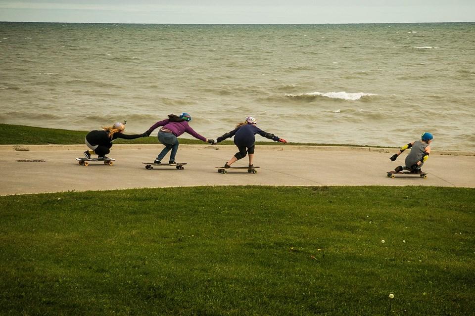 toronto Girls Longboarding, Skate Invaders, FUBU, Canada, Longboard Girls Crew, longoarding, skate, skateboarding, women, gender equality, rad, cool, style, strong, women, boards, friends, friendship