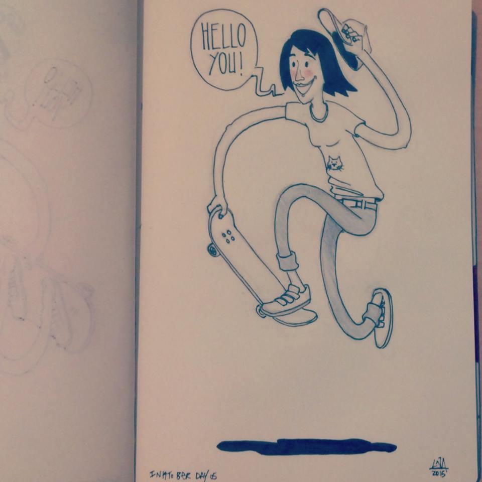lna, lna morandi, art, cool, drawing, illustration, hype, female artist, longboard girls crew, longboarding, skate, skateboarding, roller derby, hipster, rad, girls can skate
