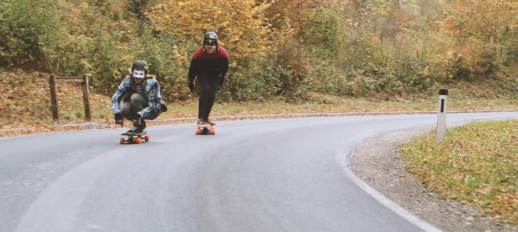 gloria kupsch, glori kupsch, nico nuehrig, nicola nührig,  longboard girls crew, downhill, fast, rad, cool, longboarding, skate, skateboarding, austria, lgc, skate like a girl, cool rad, fast, couple, runs, downhill skateboarding, autumn, leaves, nature, adventure, explore
