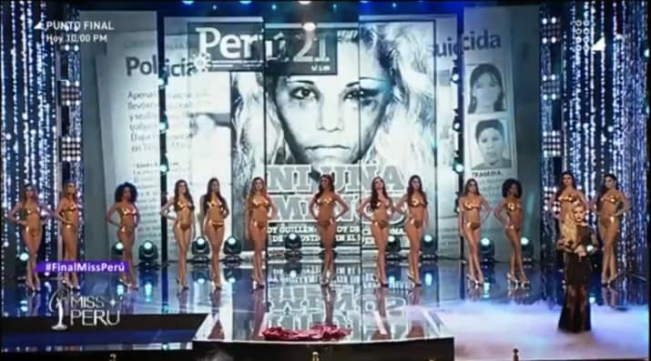 miss peru, gender equality, violence against women, be the change, work for change, beauty contest, feminism, social justice, awesome, women power, pussy power, the rise of women, longboard girls crew, the shift,